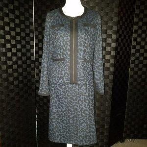 Fever - Animal Print Skirt Suit